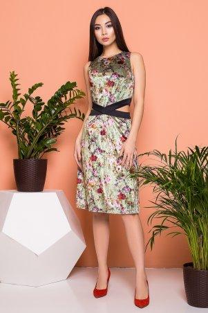A-Dress. Велюровое платье с изящными разрезами на талии. Артикул: 70841