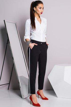 A-Dress. Черные брюки с сине-белыми лампасами. Артикул: 30012