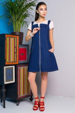 A-Dress. Джинсовый сарафан с контрастной отстрочкой. Артикул: 70850