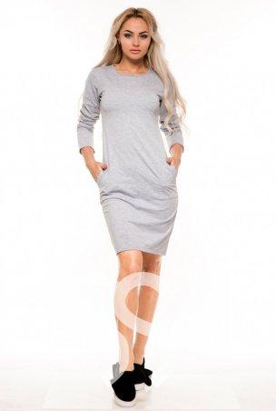 ISSA PLUS: Платья 9121_серый - главное фото