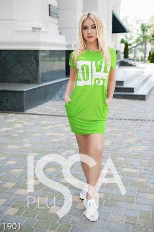 ISSA PLUS: Платья 1901_салатовый - главное фото