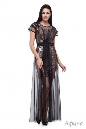 Angel PROVOCATION. Платье двойка (платье пайетка + платье сетка). Артикул: Афина