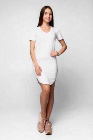 SML STORE. Платье. Артикул: 874.платье туника вискоза белый