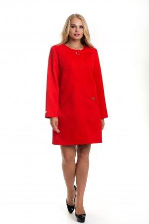 Vicco: Женский красный плащ — кардиган с волнистым дизайном SHARLOTA 8 - главное фото
