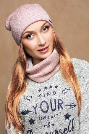 Long Way. Комплект шарф+шапка пудра. Артикул: 17165