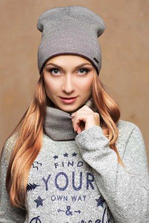 Long Way. Комплект шарф+шапка шоколад. Артикул: 17163