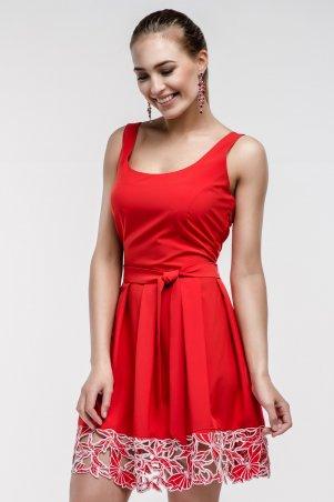 RicaMare. Платье до колен с вышивкой по подолу. Артикул: RM142-14DD-платье
