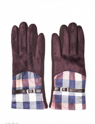 ISSA PLUS. Перчатки. Артикул: 4154_коричневый