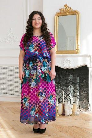 Tatiana: Шифоновое длинное платье ФАННИ малиновое - главное фото