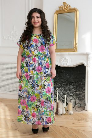 Tatiana. Шифоновое длинное платье. Артикул: ФАННИ розовое