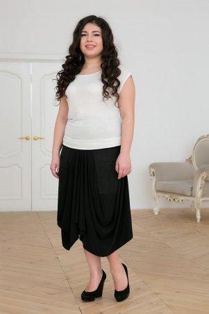 Tatiana. Оригинальная юбка с накладными карманами. Артикул: БАЛИ черная