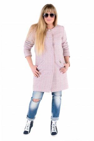 Vicco. Женский весенний плащ - кардиган SHARLOTA (цвет розовый дизайн рогожка). Артикул: 7815