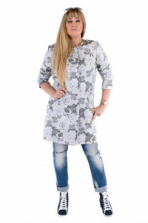 Vicco. Женский весенний плащ - кардиган SHARLOTA (цвет silver дизайн цветы). Артикул: 7851