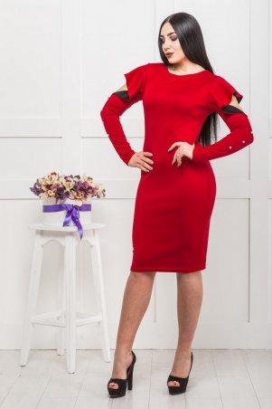 Zanna Brend. Красное женское платье вечернее с итальянского трикотажа. Артикул: 8