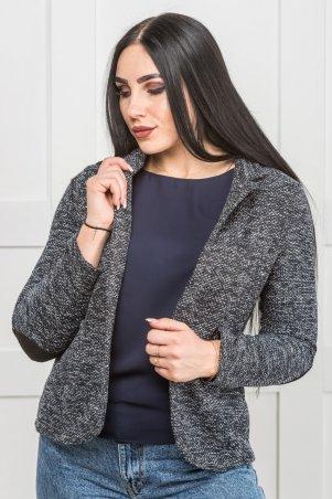 Zanna Brend. Короткий пиджак женский серый под джинсы. Артикул: 35