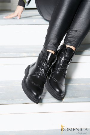 Domenica. Стильные демисезонные кожаные ботинки. Артикул: Артикул 114