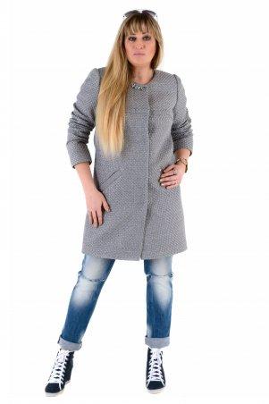 Vicco. Женский весенний плащ - кардиган SHARLOTA (цвет silver дизайн рогожка). Артикул: 7794