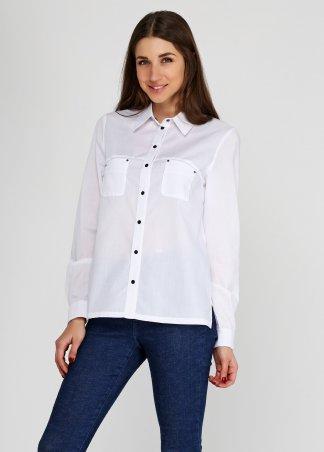 Kaiza. Рубашка 8235 - СТРЕЙЧ-КОТТОН белый. Артикул: 823517WT44SH