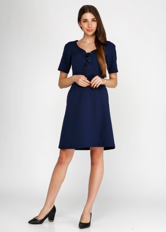 Kaiza. Платье 8128 - АШАН тёмно-синий. Артикул: 812816DBL413DR