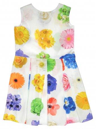 """Garden baby. Платье """"Яркие цветы"""" 2018, белый в цветах. Артикул: 45065-48"""