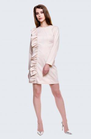 Cher Nika. Молочное платье с рюшами. Артикул: 931