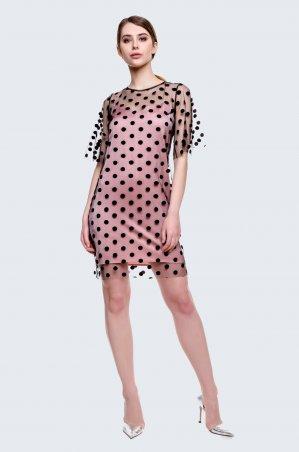 Cher Nika. Платье-сетка в горох. Артикул: 927