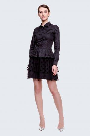 Cher Nika. Платье короткое с юбкой в горох. Артикул: 928