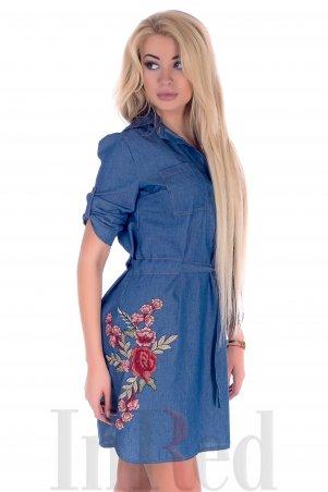 "InRed. Платье-рубашка ""LOVELY"" синее. Артикул: 7316"