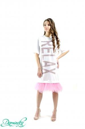 "Daminika. Свободное платье-футболка ""Relax"". Артикул: 11801 W"