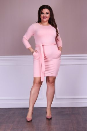 Modna Anka. Платье Молли+ персиковый. Артикул: 412623