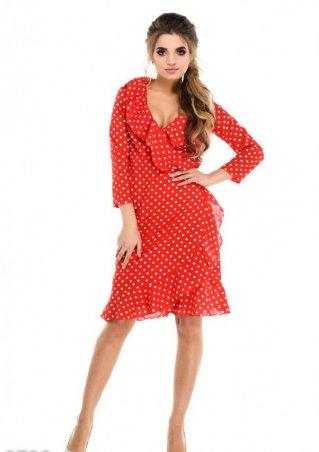 ISSA PLUS: Платья 9729_красный - главное фото