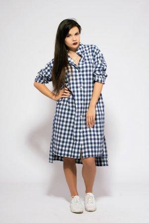 Modna Anka. Платье-рубашка синий. Артикул: 212879