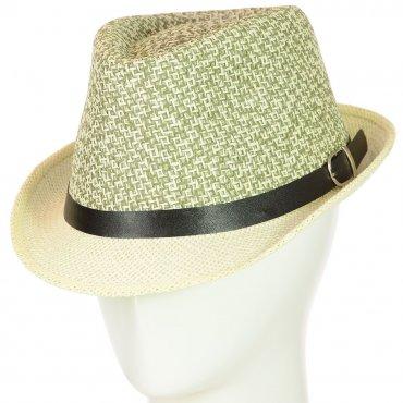 Cherya Group. Шляпа Челентанка. Артикул: 12017-32 зеленый-молочный