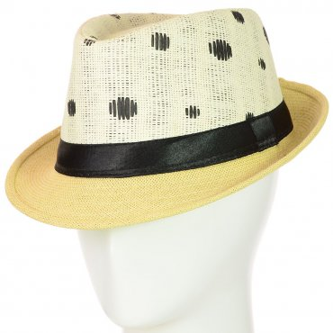 Cherya Group. Шляпа Челентанка. Артикул: 12017-31 черный-бежевый