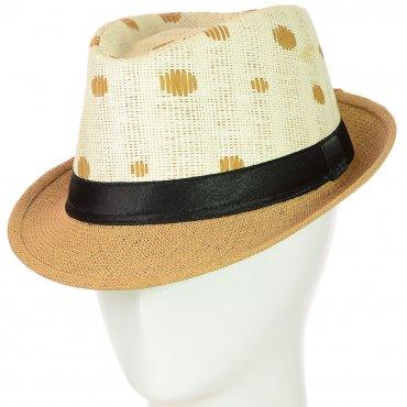 Cherya Group. Шляпа Челентанка. Артикул: 12017-31 светло-коричневый