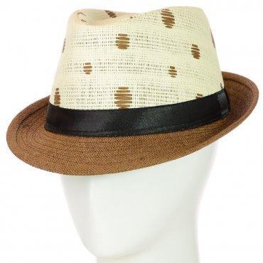 Cherya Group. Шляпа Челентанка. Артикул: 12017-31 коричневый