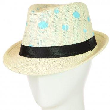 Cherya Group. Шляпа Челентанка. Артикул: 12017-31 бирюзовый-молочный