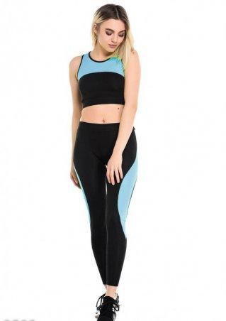 ISSA PLUS. Спортивные костюмы. Артикул: 9508_черный/голубой