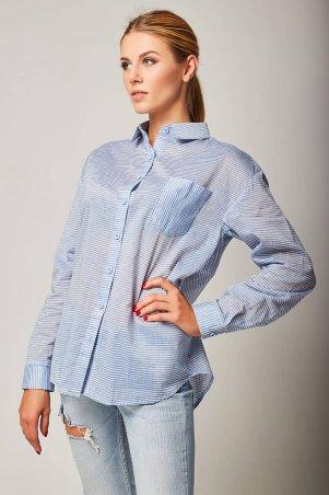 Bessa. Рубашка объемная в полоску. Артикул: 2425