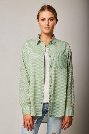 Bessa. Рубашка объемная в полоску. Артикул: 2424