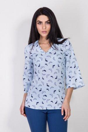 Bessa. Блуза с расклешенными рукавами. Артикул: 2360