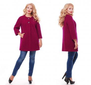 Vlavi. Пальто женское цвета вишни. Артикул: 2001