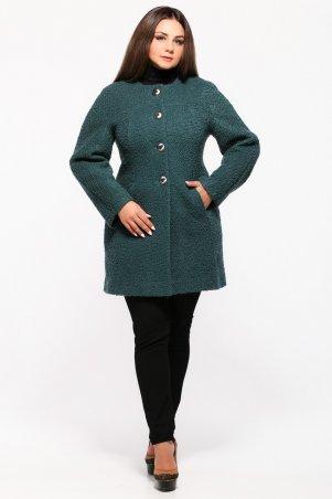 Vlavi. Пальто женское бутылочного цвета длинный рукав. Артикул: 2011
