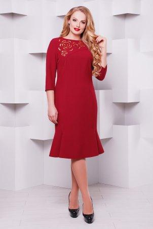 Vlavi. Оригинальное платье с перфорацией Анюта бордо. Артикул: 1137