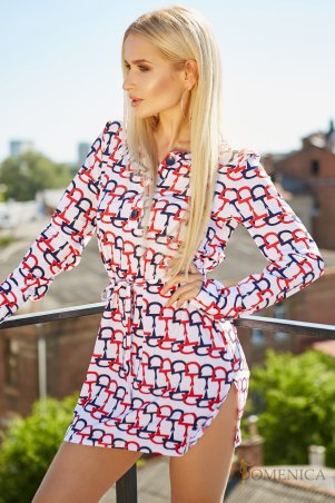 Domenica. Платье-рубашка с длинным рукавом из летней коллекции. Артикул: Р 2209