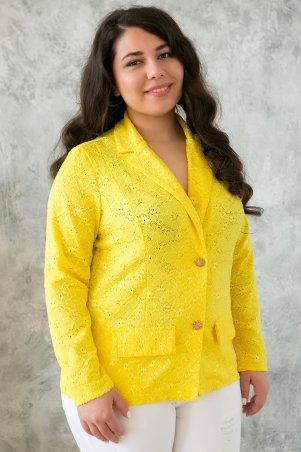 Tatiana: Жакет из гипюра ДЖЕННИ желтый - главное фото