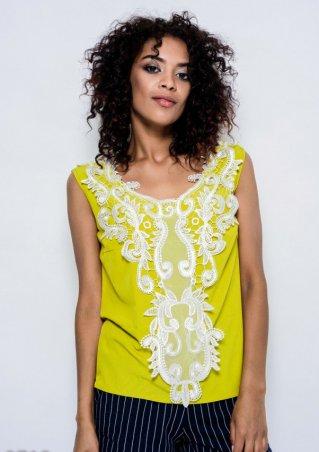 ISSA PLUS: Блузы 9713_оливковый - главное фото