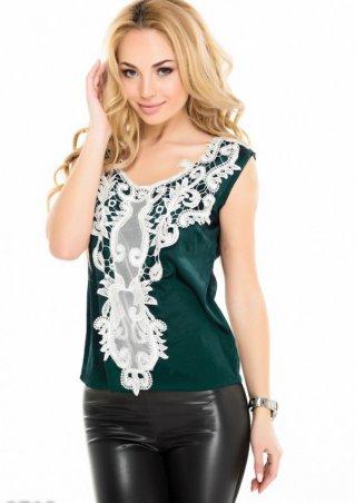 ISSA PLUS: Блузы 9713_зеленый - главное фото