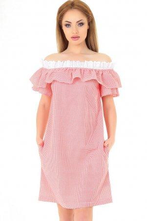 V&V. Платье 2563-1.24 красное с белым. Артикул: 2563-1.24