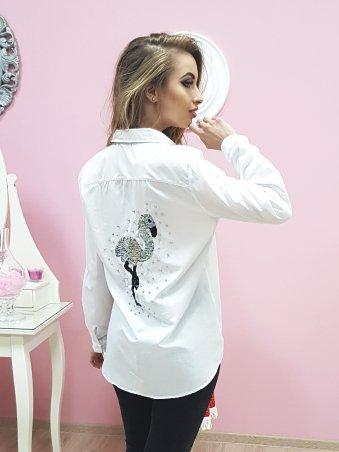 Paetka. Рубашка с трендовой вышивкой и жемчугом. Артикул: 651